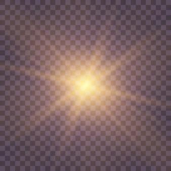 L'étoile A éclaté D'étincelles. Vecteur Premium