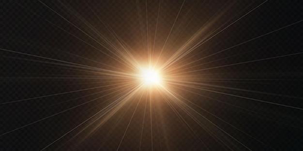 Étoile légère sur fond transparent