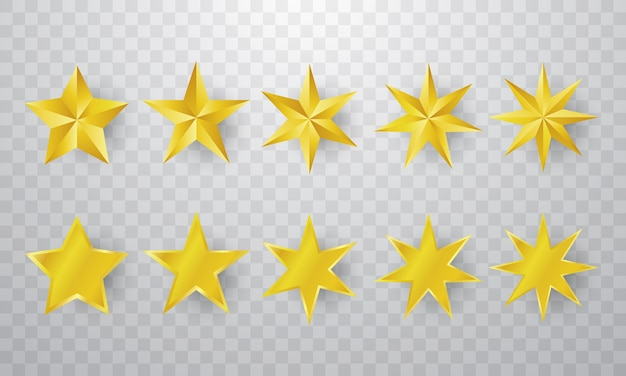 Étoile d'or sur fond