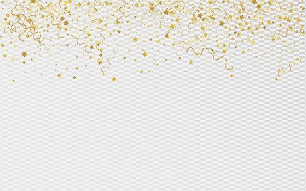 Étoile d'or isolé sur fond transparent