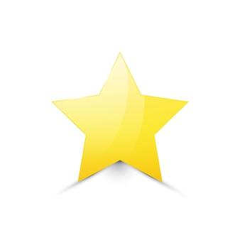 Étoile d'or isolée