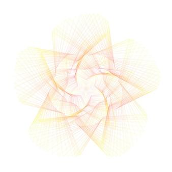 Étoile orange dégradé abstrait