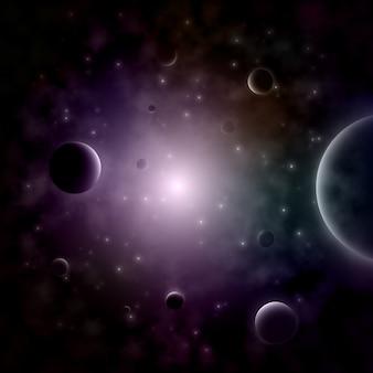 Étoile qui explose dans l'espace