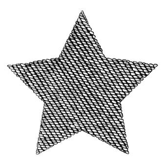 Étoile tricotée.