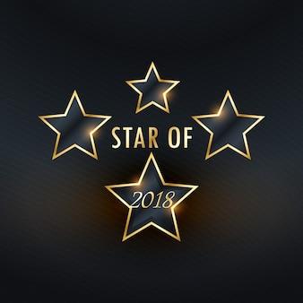 Étoiles 2018 fond d'or