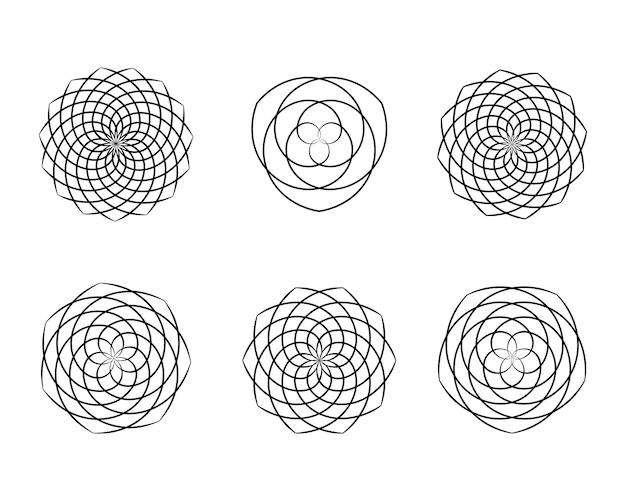 Étoiles abstraites, motif. ornement de vecteur. élément de conception graphique.