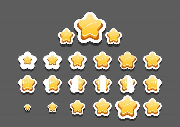 Étoiles animées pour le jeu vidéo