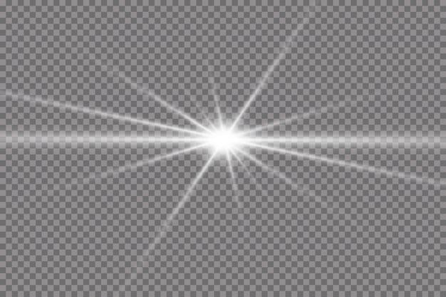 Étoiles brillantes, effets, éblouissement, lignes, paillettes, explosion, lumière dorée