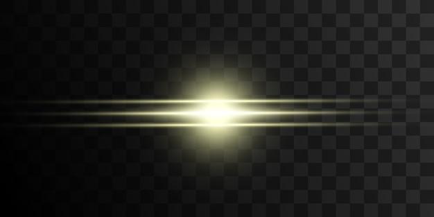 Étoiles brillantes. ensemble de belles étoiles brillantes dorées. effet lumineux sur fond sombre. étoiles pour la décoration