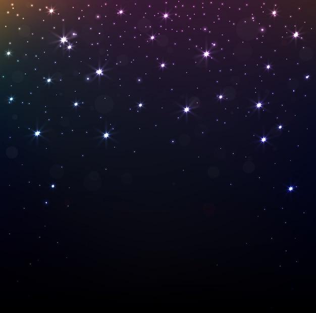 Étoiles brillantes sur fond de nuit