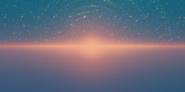 Étoiles brillantes avec illusion de profondeur et de perspective