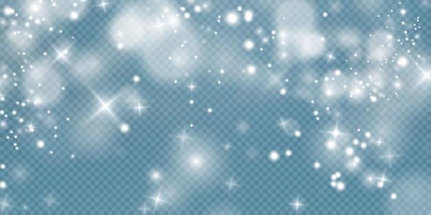 Étoiles brillantes isolées sur fond blanc transparent