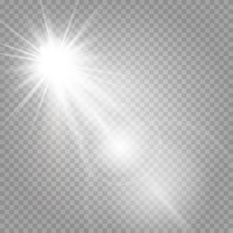 Des étoiles brillantes et des reflets brillants