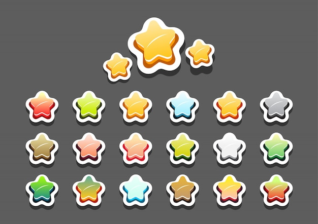 Des étoiles colorées pour un jeu vidéo