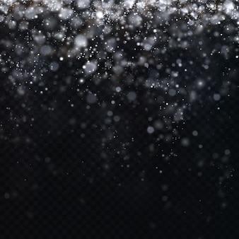 Les étoiles de confettis de célébration de noël tombent