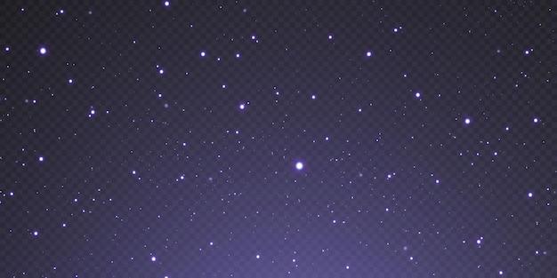 Les étoiles de confettis d'or de noël tombent