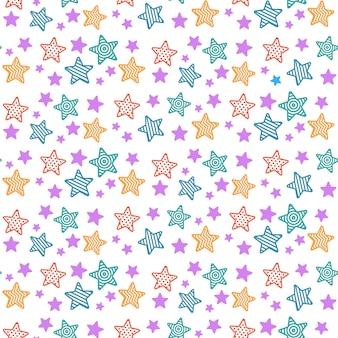 Étoiles dessinées à la main sans soudure de fond