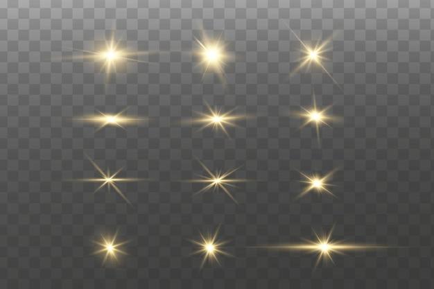 Étoiles dorées brillantes.