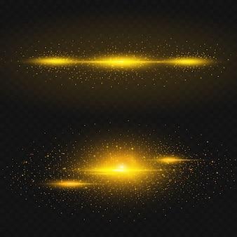 Les étoiles dorées brillent sur un fond noir.