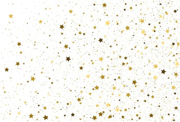 Étoiles dorées de fond de confettis de paillettes d'or clair