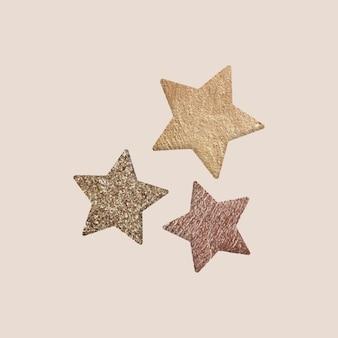 Étoiles dorées isolées