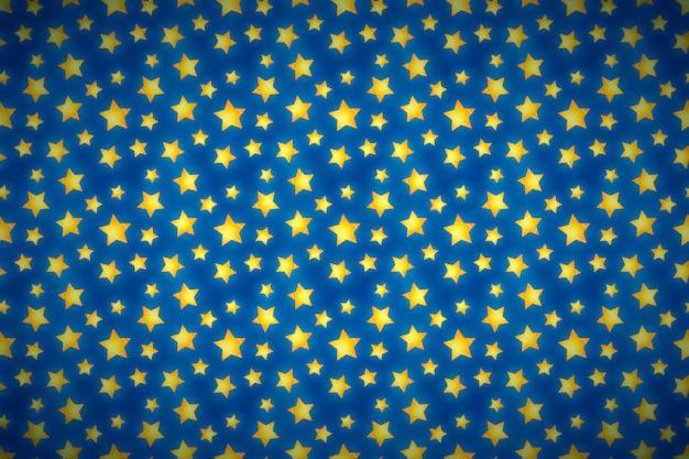 Étoiles dorées mignonnes sur bleu