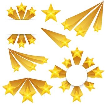 Les étoiles éclatent des éléments.