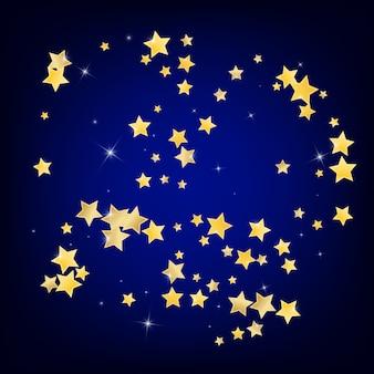 Étoiles élégantes dorées