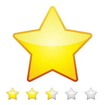 Étoiles d'évaluation isolés. élément de design illustration vectorielle.