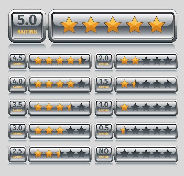 Étoiles d'évaluation