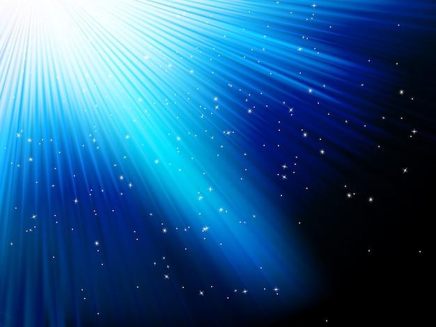 Étoiles sur fond rayé bleu. fichier inclus