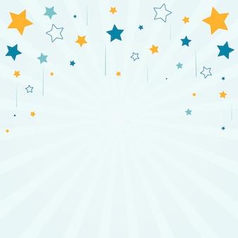Étoiles avec fond sunburst