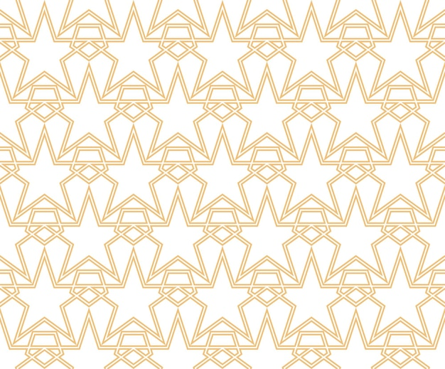 Les étoiles géométriques façonnent des motifs linéaires sans soudure vector illustration