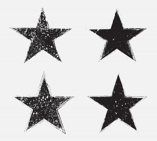 Étoiles grunge noir