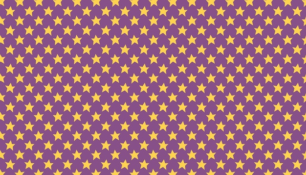 Étoiles jaunes mignons dessinés à la main motif vecteur texture bckground happy halloween packaging