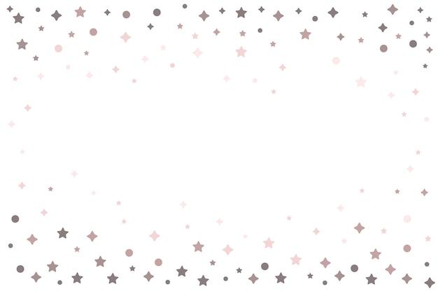 Étoiles lumineuses cadre design fond