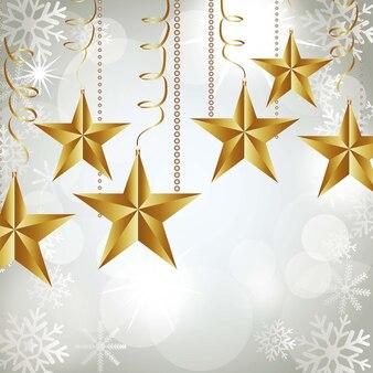 Étoiles de noël sur fond blanc abstrait illustration vectorielle