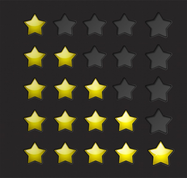 Étoiles de notation