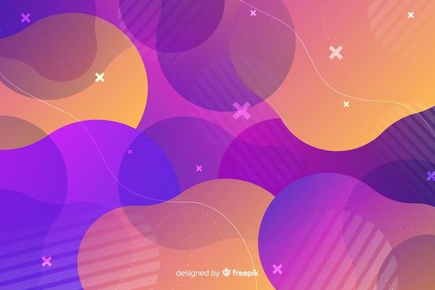 Étoiles de la nuit abstraites et fond de formes liquides