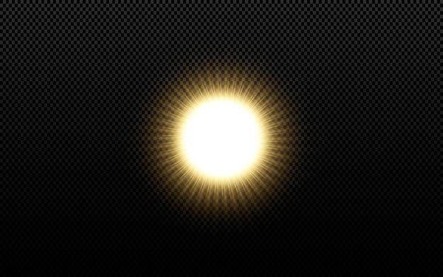 Étoiles d'or brillantes isolés sur fond noir.