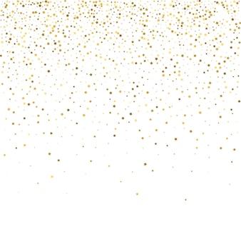 Étoiles d'or. fête de confettis, tombant d'or decora abstrait