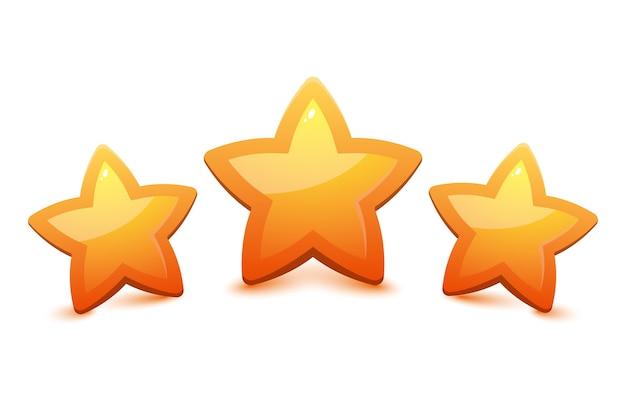 Des étoiles pour les jeux. conception de jeux d'interface utilisateur.