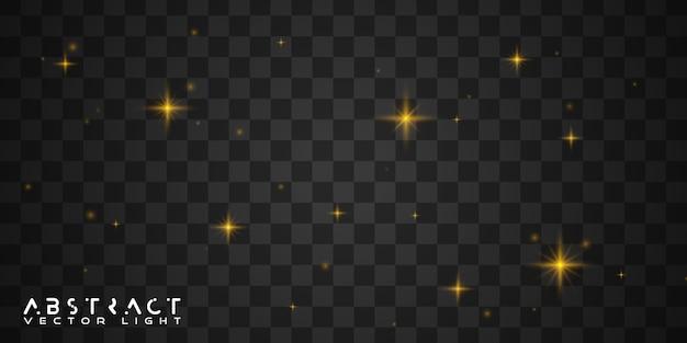 Étoiles scintillantes dorées