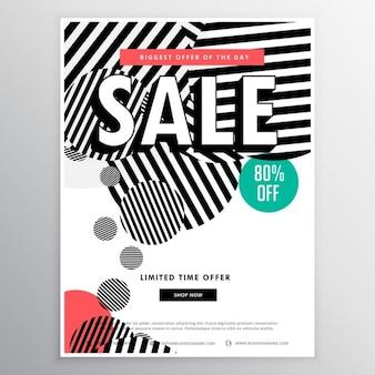 Étonnant modèle vente de la brochure avec des cercles abstraits lignes formes