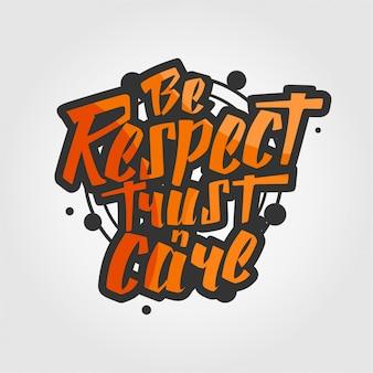 Être respect