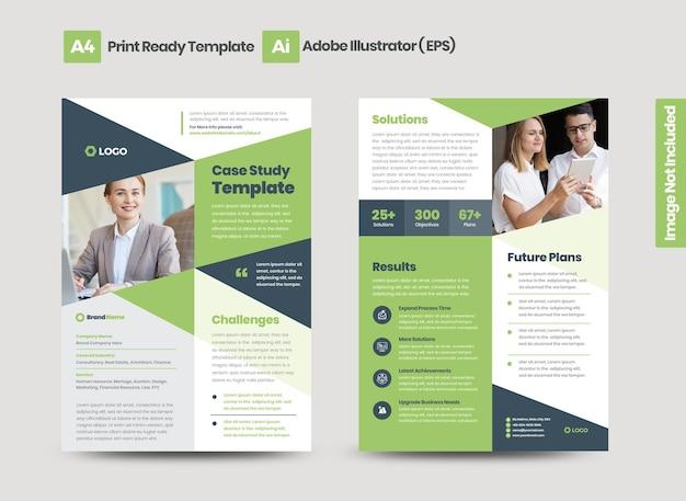 Étude de cas d'affaires ou conception de fiches marketing et de prospectus