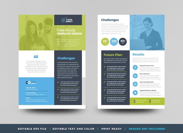 Étude de cas d'entreprise ou conception de fiche marketing et de déplianta
