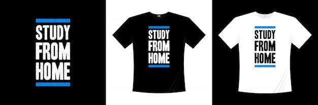 Étude de la conception de t-shirts de typographie à domicile