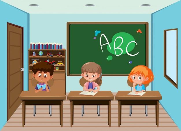 Étudiant en classe