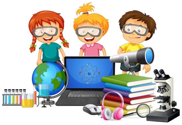 Étudiant avec élément scolaire